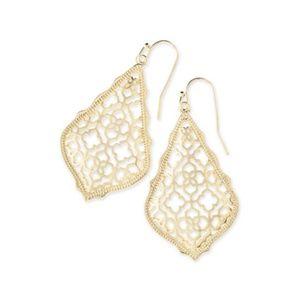 Kendra Scott Jewelry - Kendra Scott Addie Logo Earrings in Gold